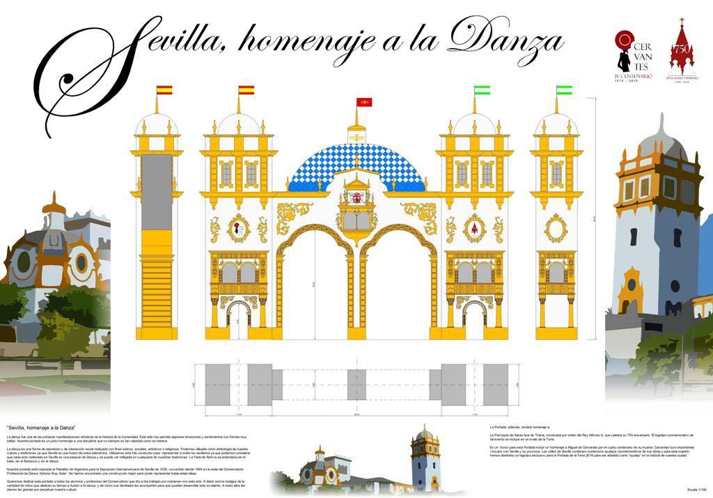 Diseño Portada Feria de abril de Sevilla 2016