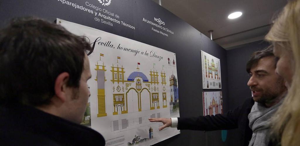 El Colegio de Aparejadores inaugura la exposición de diseños para la Portada de la Feria de abril 2016