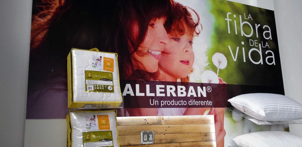 Nuevo espacio comercial para productos Allerban. Un diseño muy cuidado y natural.