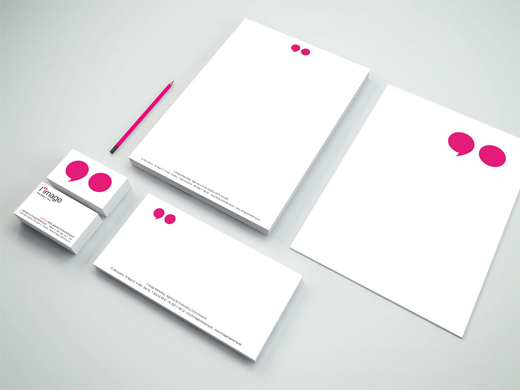 Papelería Corporativa de L'image Marketing
