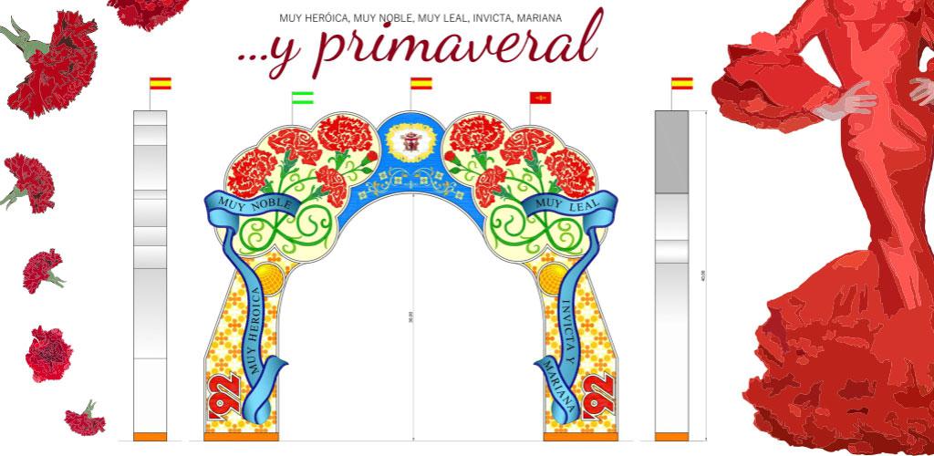 «Y primaveral», diseño finalista para la Portada de la Feria de abril de Sevilla 2017