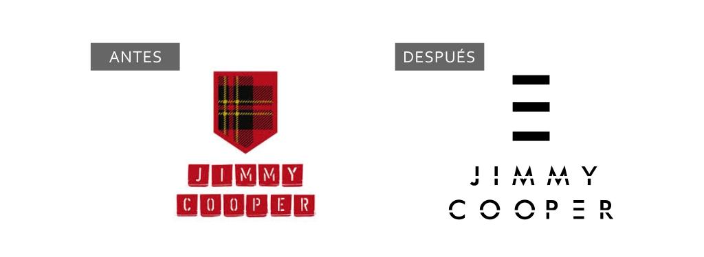 logotipo Jimmy Cooper antes y después