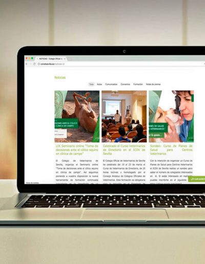 Web Colegio de Veterinarios de Sevilla