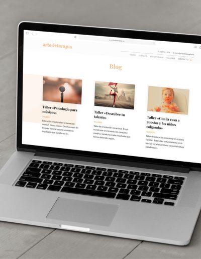 Página web consulta de psicología