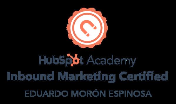 Inbound Marketing Certified Eduardo Morón
