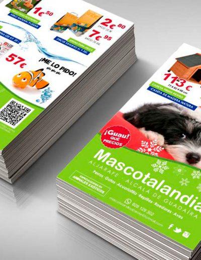 Diseño de folleto de navidad para tienda de animales