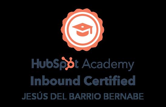 Inbound Certified Jesús del Barrio