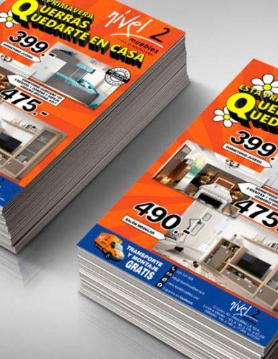 Nivel 2 Muebles folleto de promociones