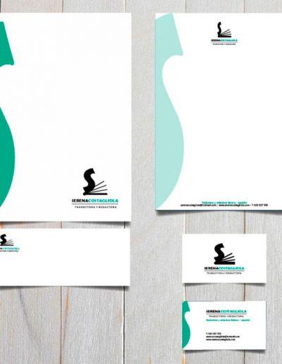 Diseño de logotipo y documentos para Serena Costagliola