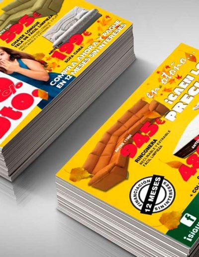 Sofas home diseño de flyer para las rebajas de otoño