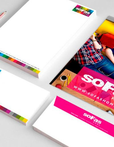 Diseño de papelería para Sofas Home