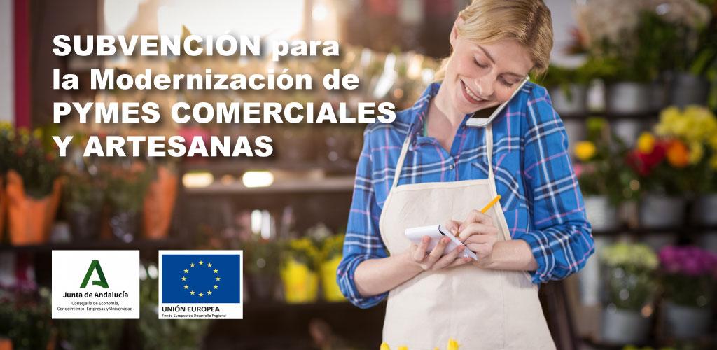 Abierto el plazo para la solicitud de subvenciones para la digitalización de PYMES comerciales y artesanas de la Junta de Andalucía