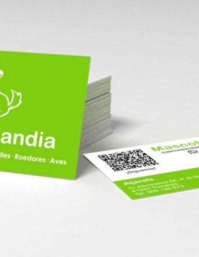 Diseño de tarjetas de empresa para Mascotalandia